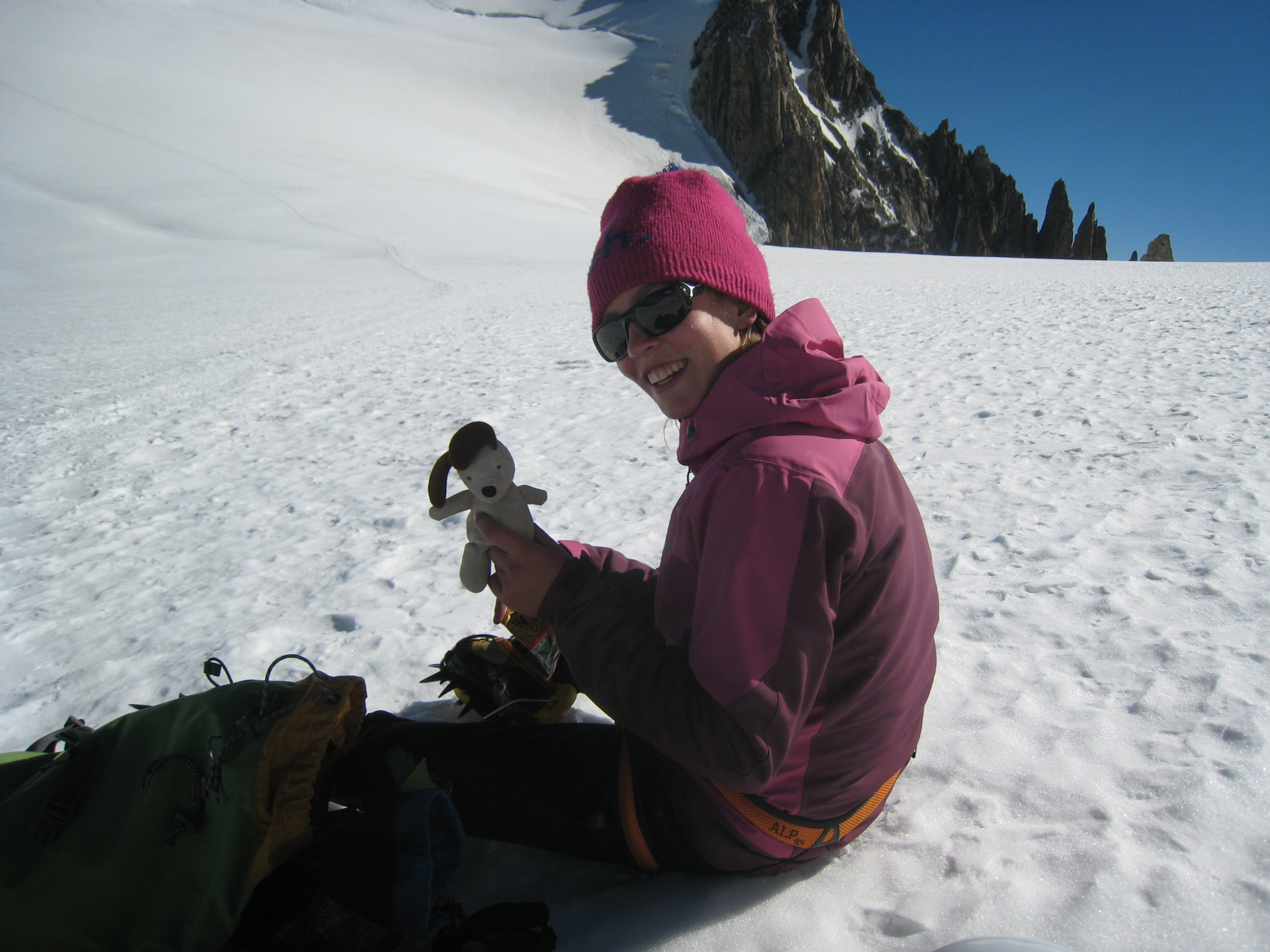 Andrea Seaton on Mont Blanc