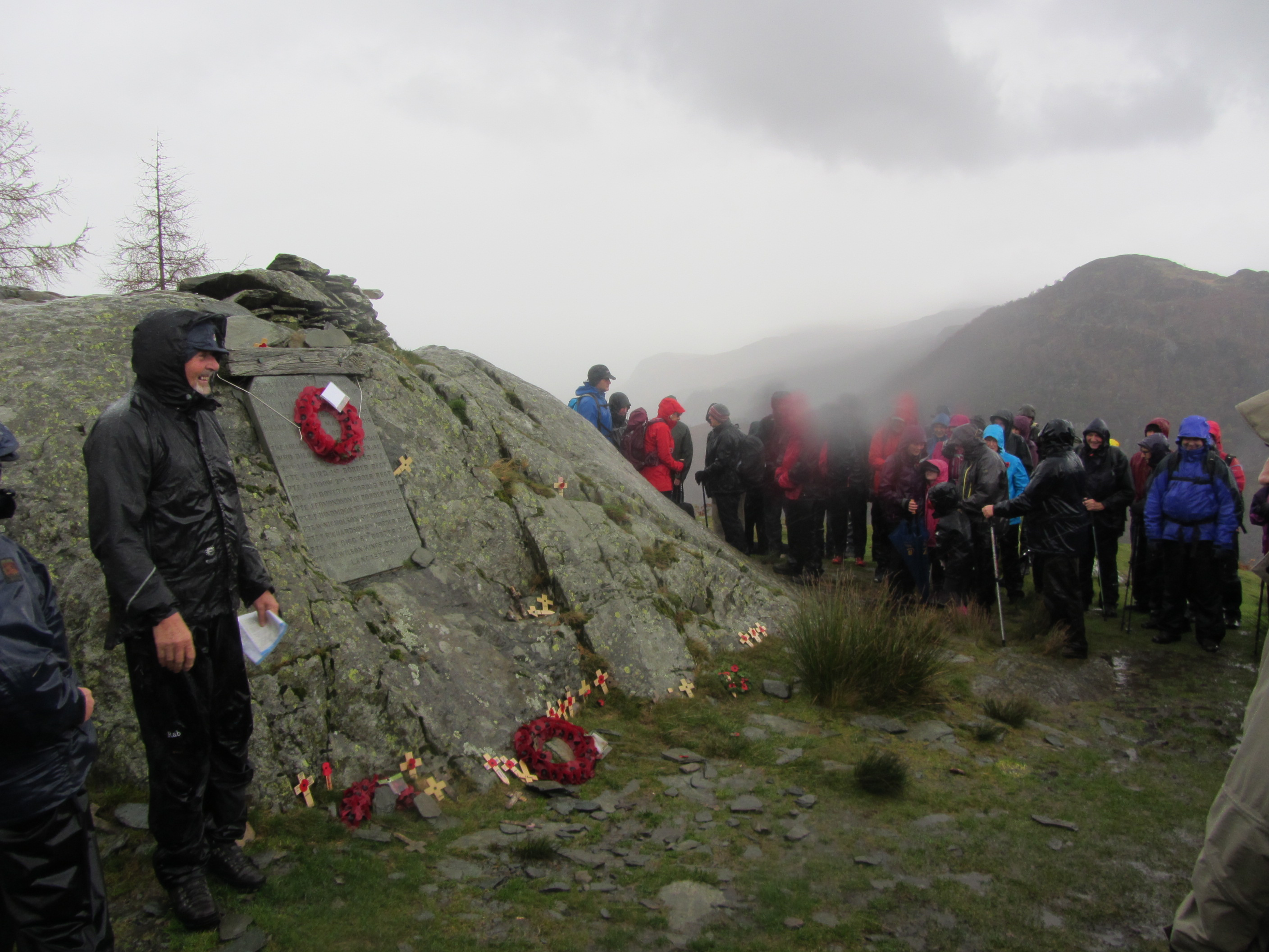 Image for article Castle Crag Act of Remembrance 2015