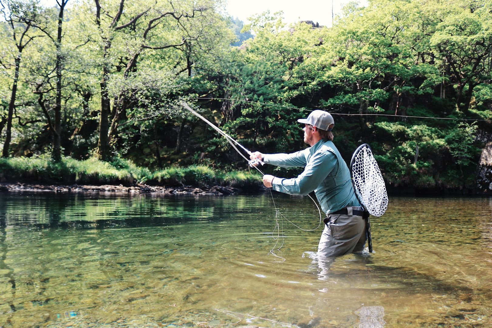 Fly fishing on the River Derwent