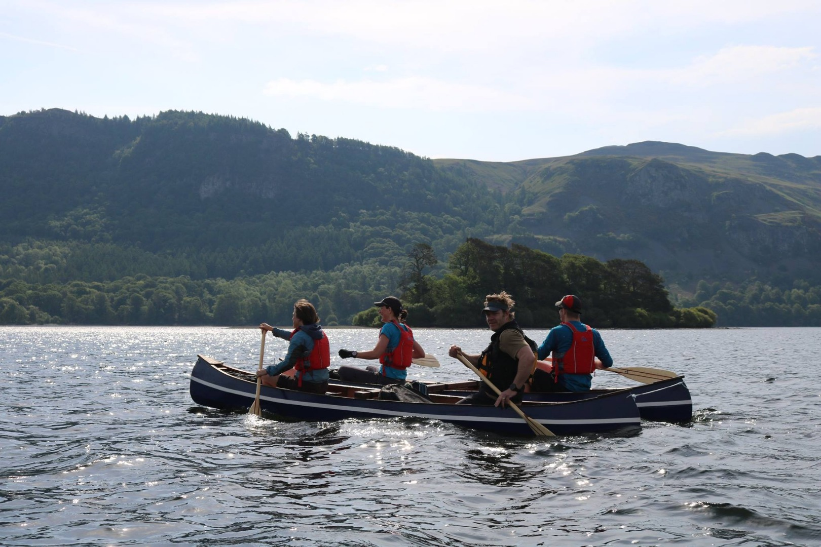 George Fisher staff canoe on Derwentwater