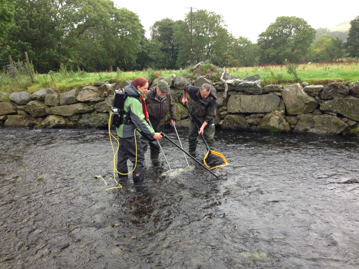 West Cumbrian Rivers trust carry out a survey