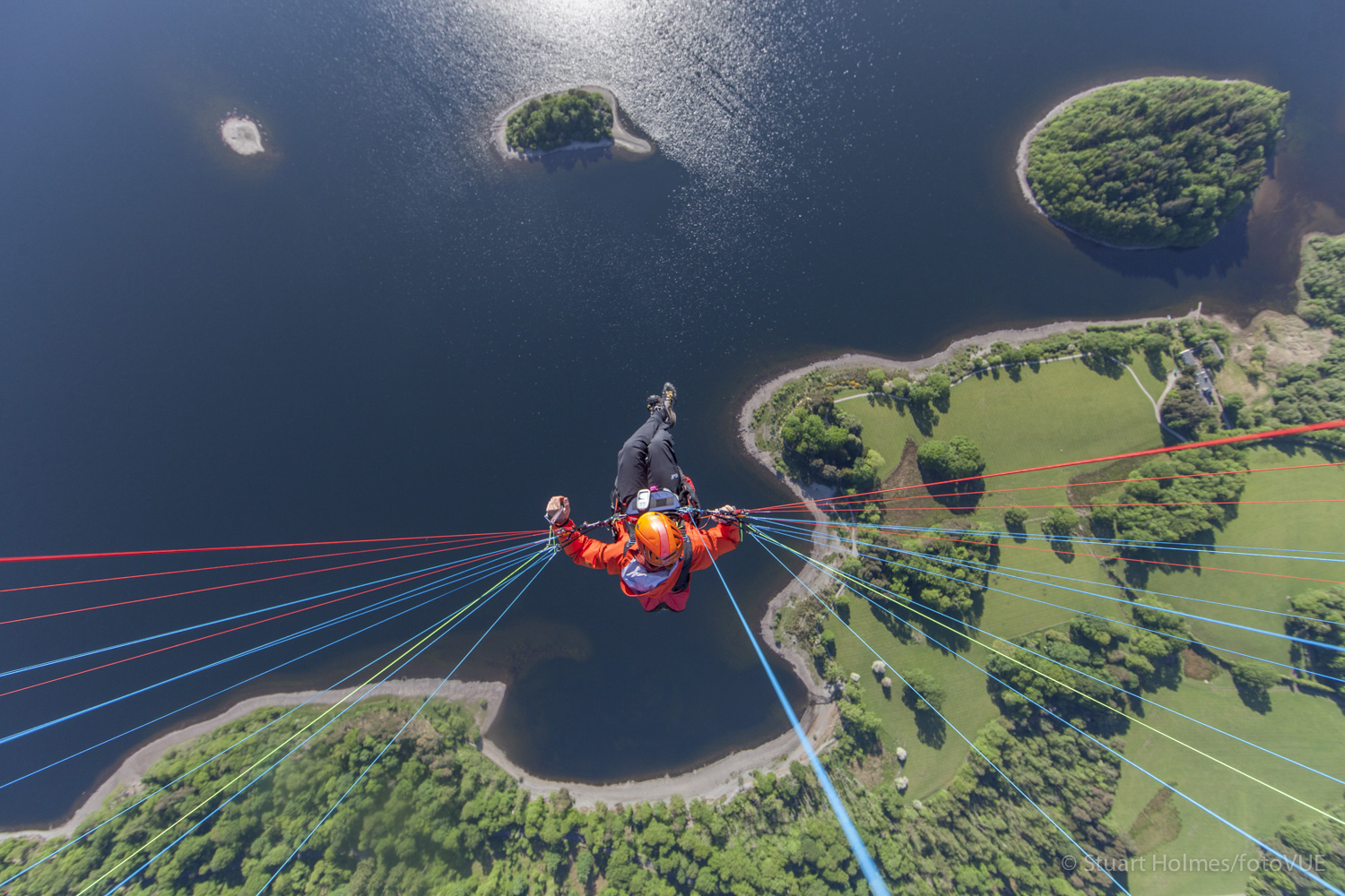 Image for article The Lakes by Paraglider
