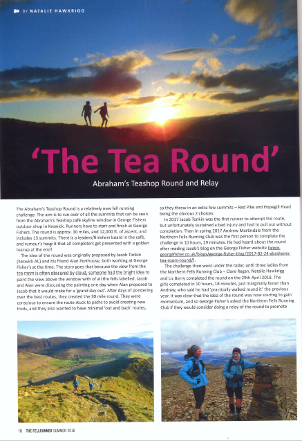 Fellrunner Magazine - Abraham's Tea Round - Summer 2018